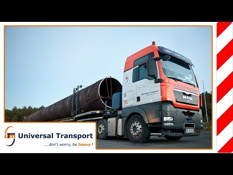 Universal Transport - Transport of a metal tube of 81 tons