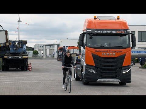 Abbiegeassistenten LKW - Universal Transport | don`t worry - be Safe!