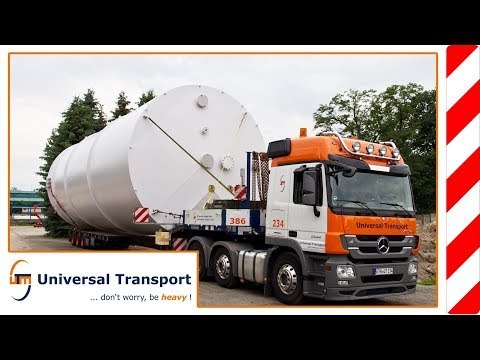 Universal Transport - Heavy load transport with a total height of 6.4 m total height