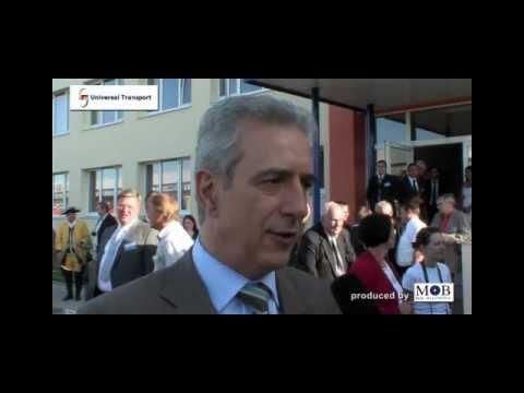 Universal Transport -Visit of the Saxonian Prime Minister Stanislav Tillich in Taucha