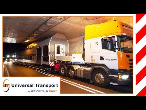 Universal Transport - maiden voyage of the new boiler bridge