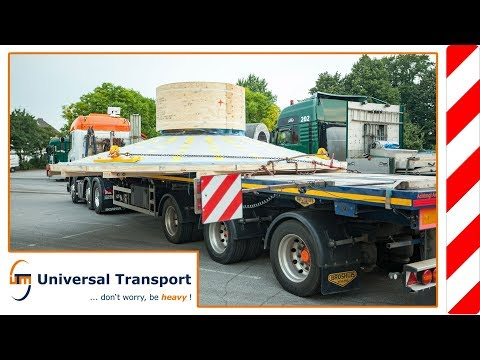 Universal Transport - with 2x 28to. through the city of Krefeld