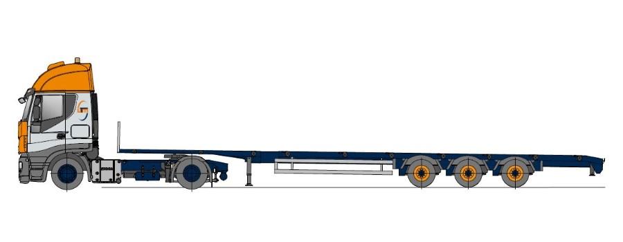 Megatrailer, vícenásobně roztažitelné