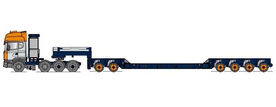 Kotlový rám s modulovými nápravami a vložkami